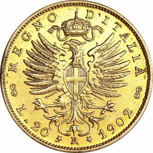 20 Lire 1902 Aquila ...