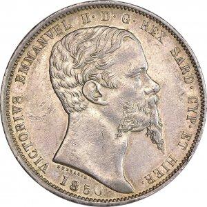 5 Lire 1850 - Zecca: Genova - ...